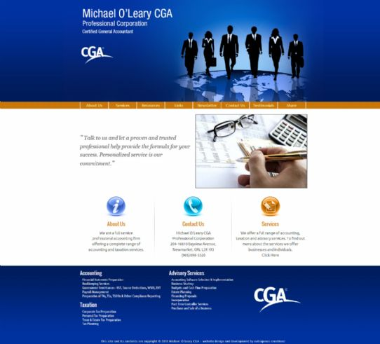 Michael O'Leary CGA - Newmarket Certified General Accountant